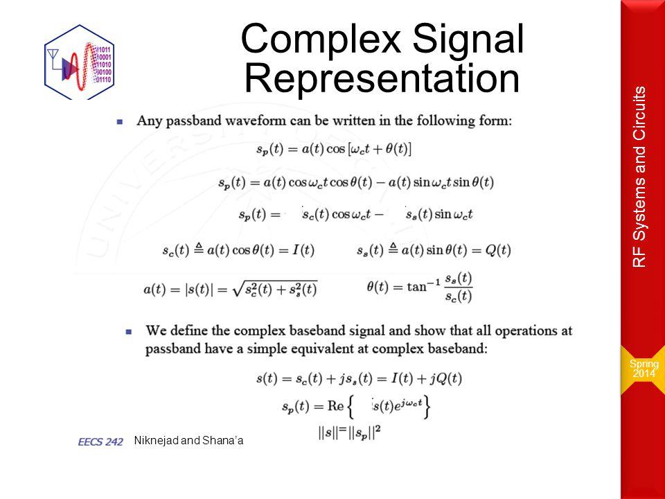 Complex Signal Representation