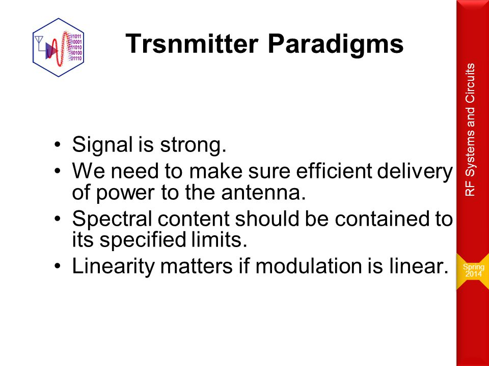 Trsnmitter Paradigms Signal is strong.