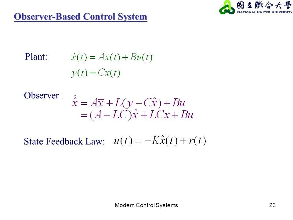 Observer-Based Control System