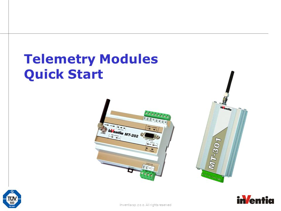 Telemetry Modules Quick Start