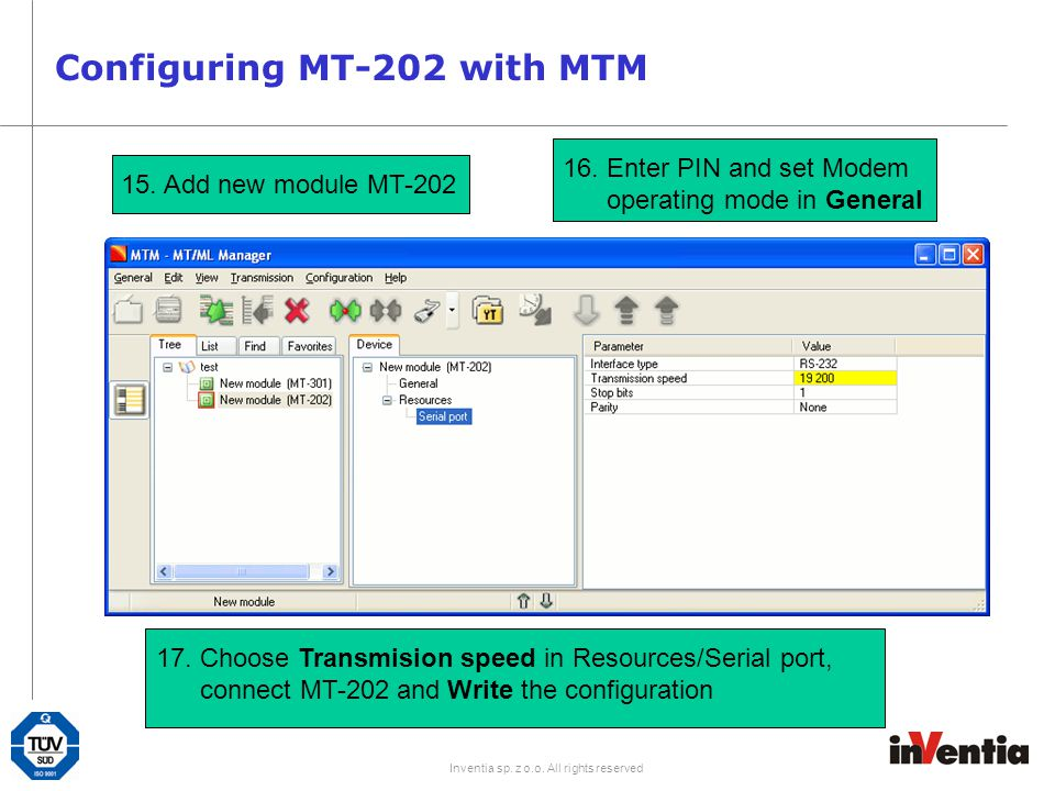 Configuring MT-202 with MTM
