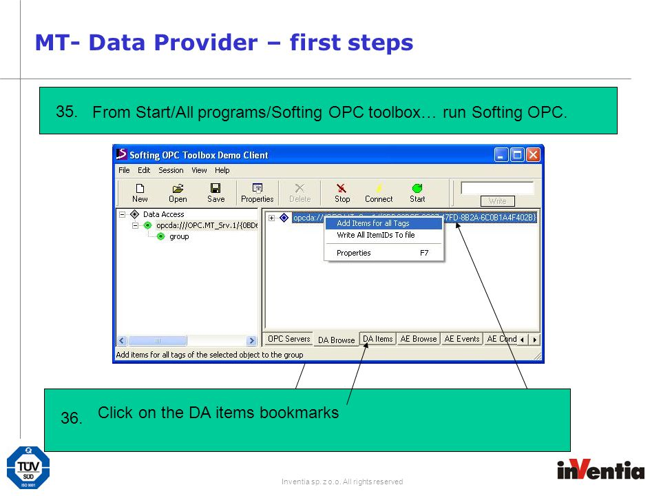 MT- Data Provider – first steps