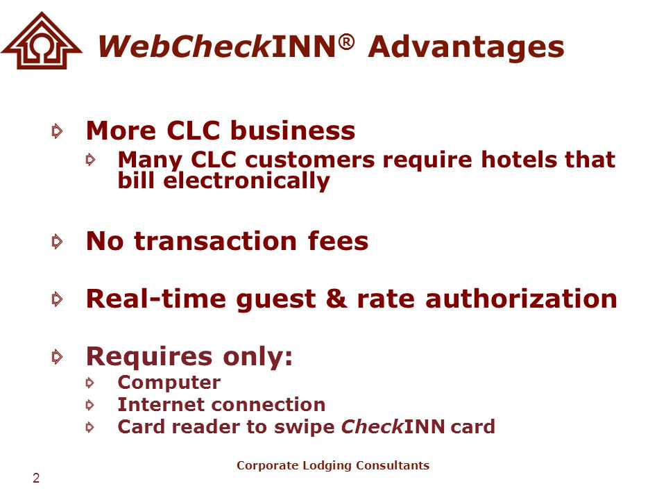 WebCheckINN® Advantages