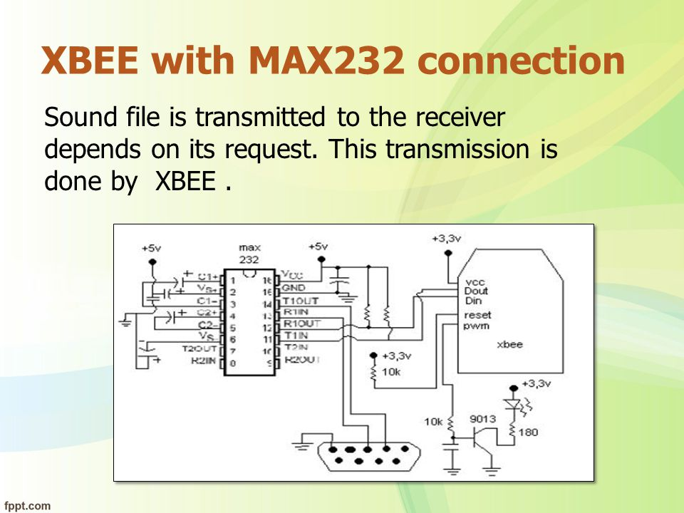 XBEE with MAX232 connection