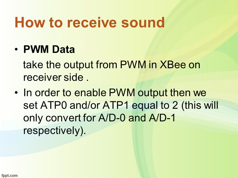 How to receive sound PWM Data