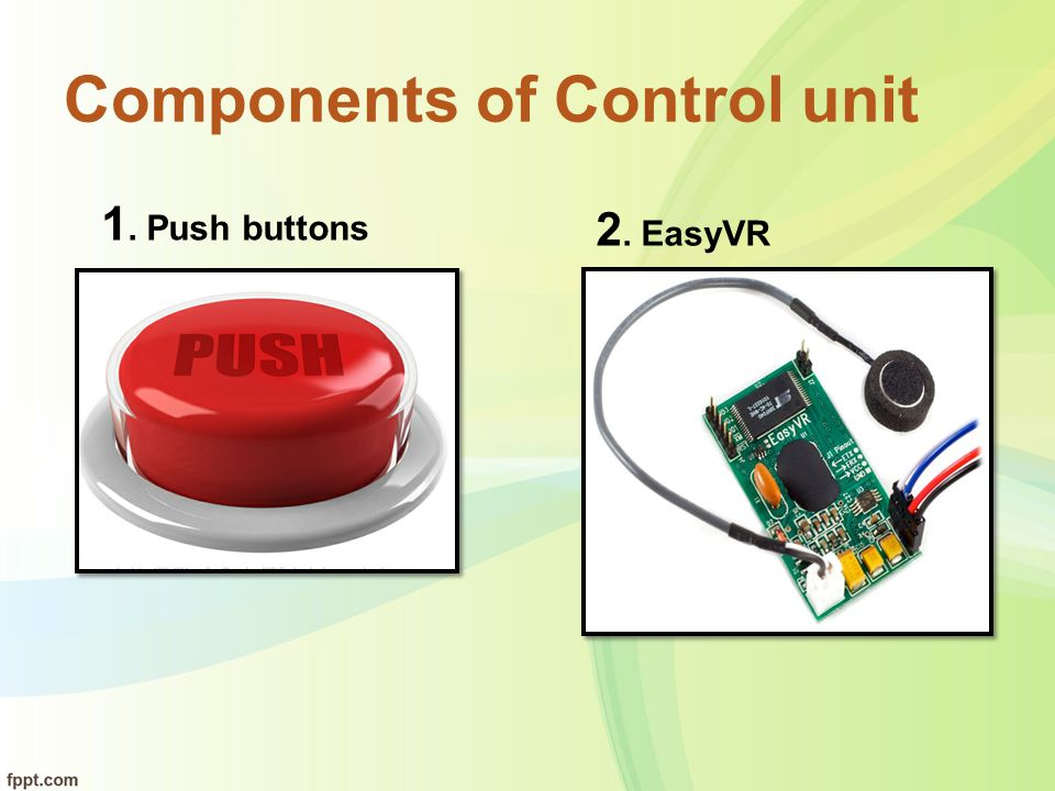 Components of Control unit
