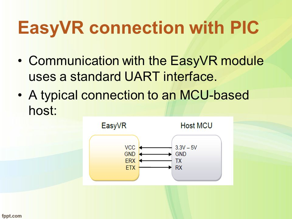 EasyVR connection with PIC