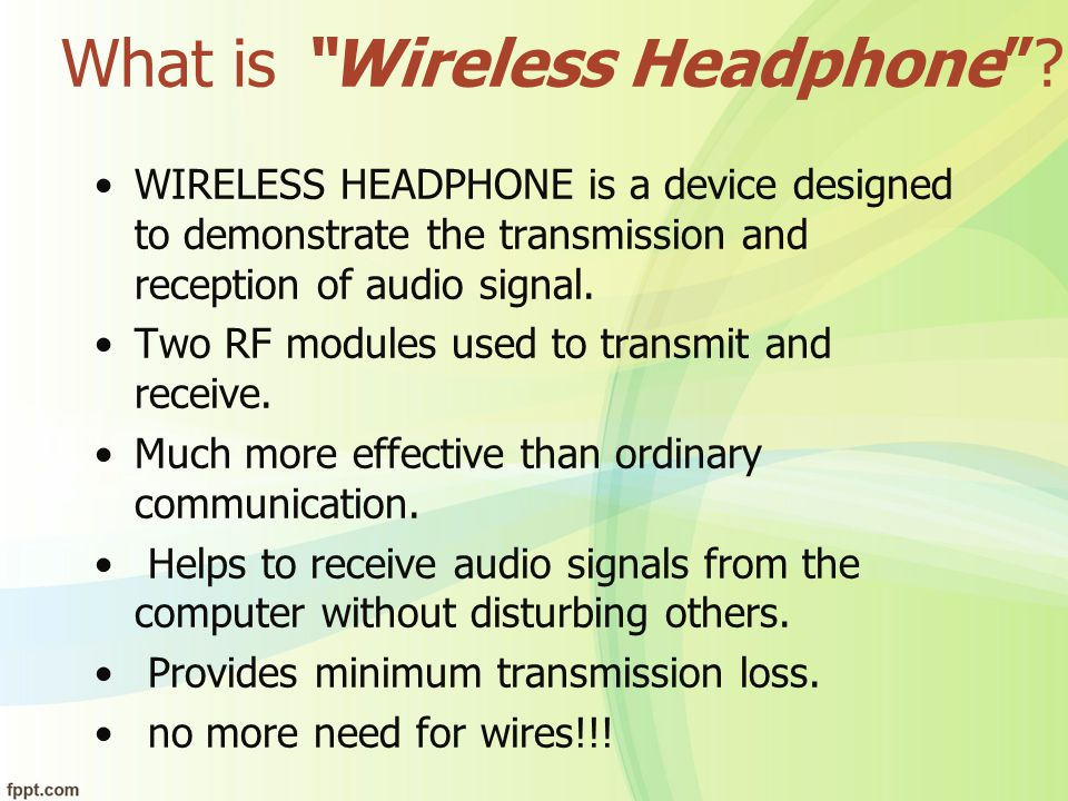 What is Wireless Headphone