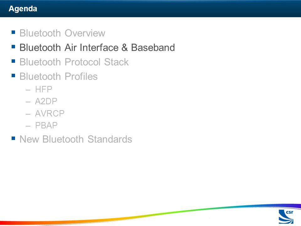 Bluetooth Air Interface & Baseband Bluetooth Protocol Stack