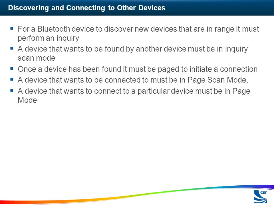 Discovering and Connecting to Other Devices