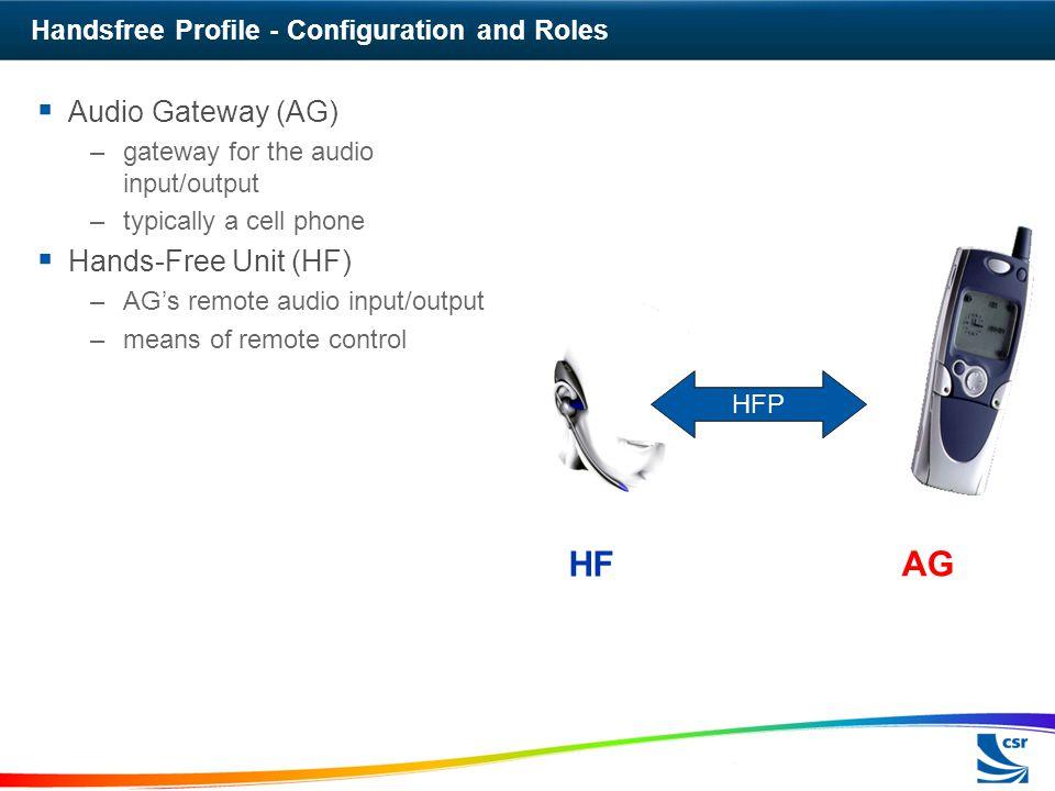 Handsfree Profile - Configuration and Roles