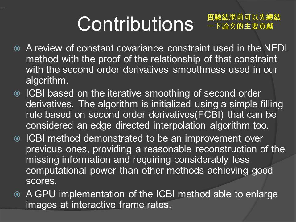 .. Contributions. 實驗結果前可以先總結一下論文的主要貢獻.