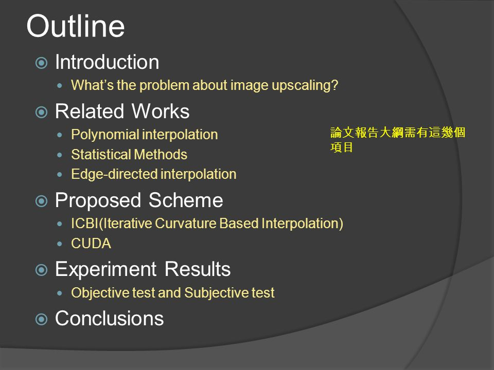 Outline Introduction Related Works Proposed Scheme Experiment Results