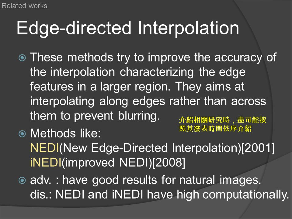 Edge-directed Interpolation