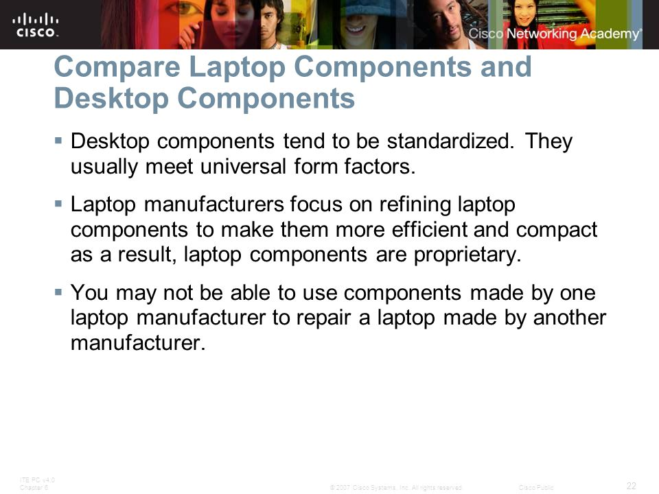 Compare Laptop Components and Desktop Components
