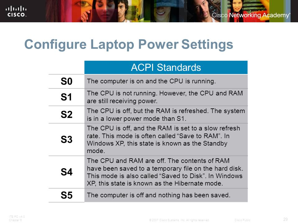Configure Laptop Power Settings