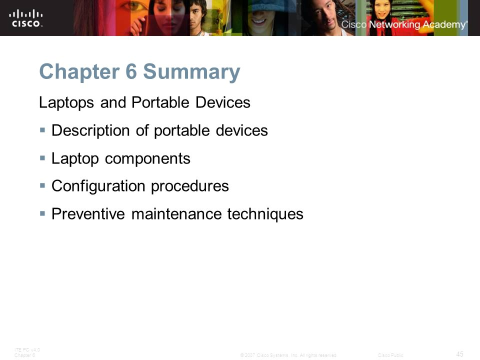 Chapter 6 Summary Laptops and Portable Devices