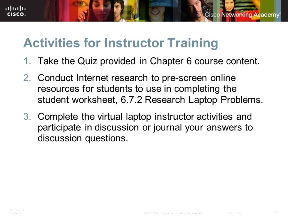 Activities for Instructor Training