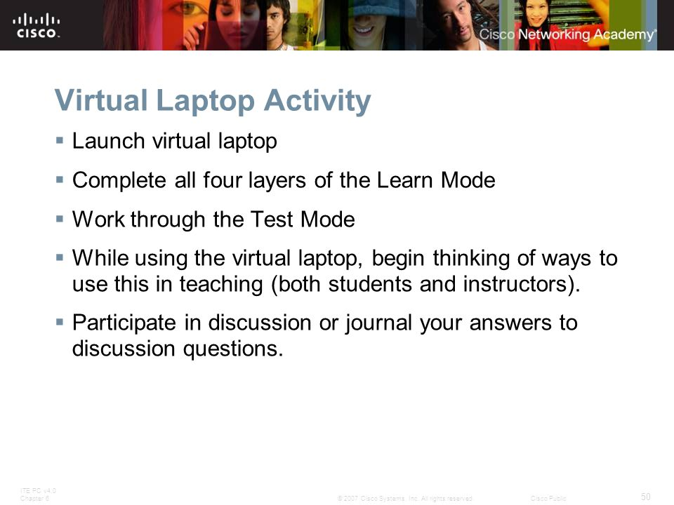 Virtual Laptop Activity
