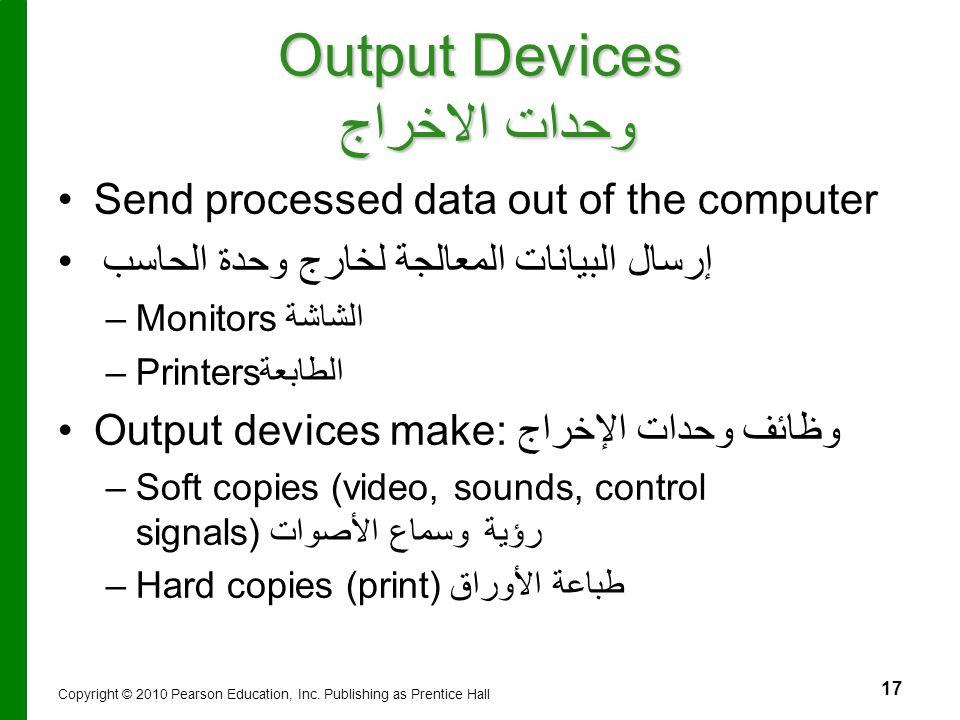 Output Devices وحدات الاخراج