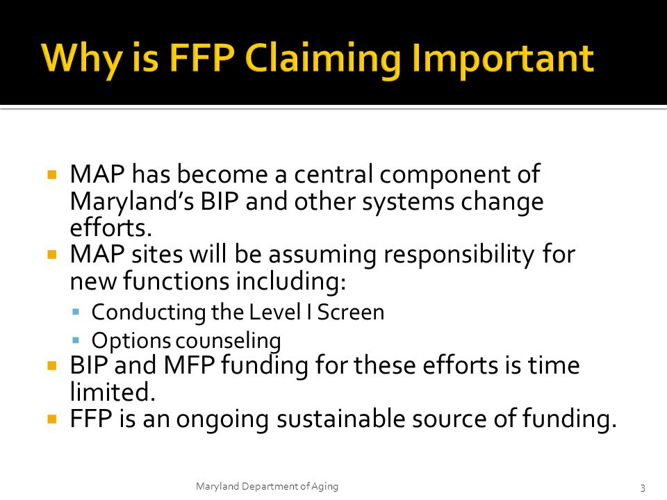 Why is FFP Claiming Important