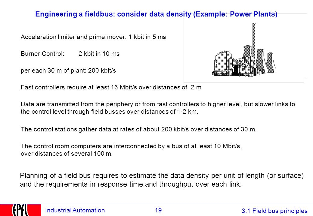Engineering a fieldbus: consider data density (Example: Power Plants)