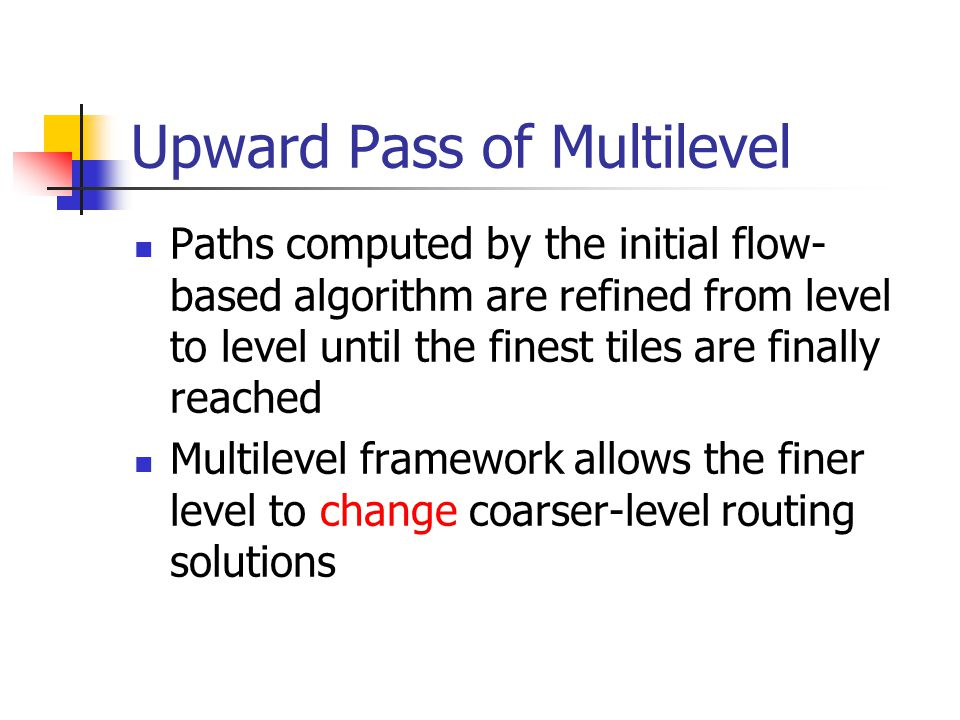 Upward Pass of Multilevel
