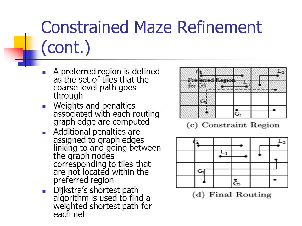 Constrained Maze Refinement (cont.)