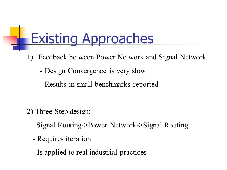 Existing Approaches Feedback between Power Network and Signal Network