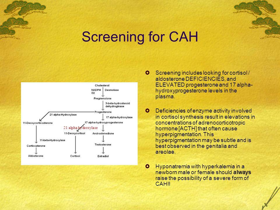 Screening for CAH