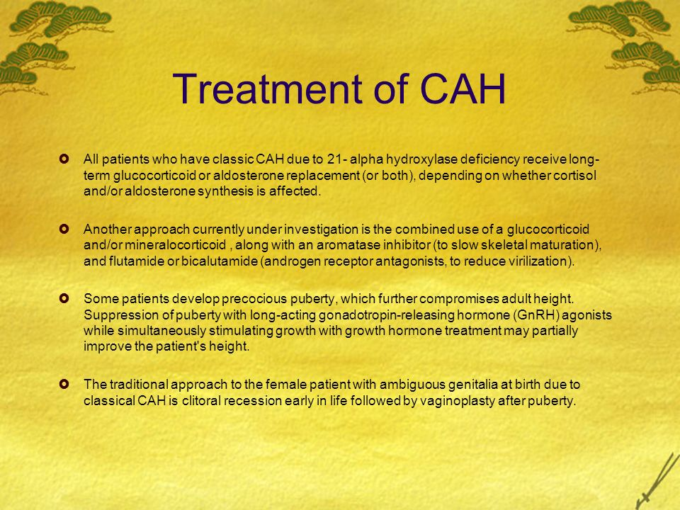 Treatment of CAH