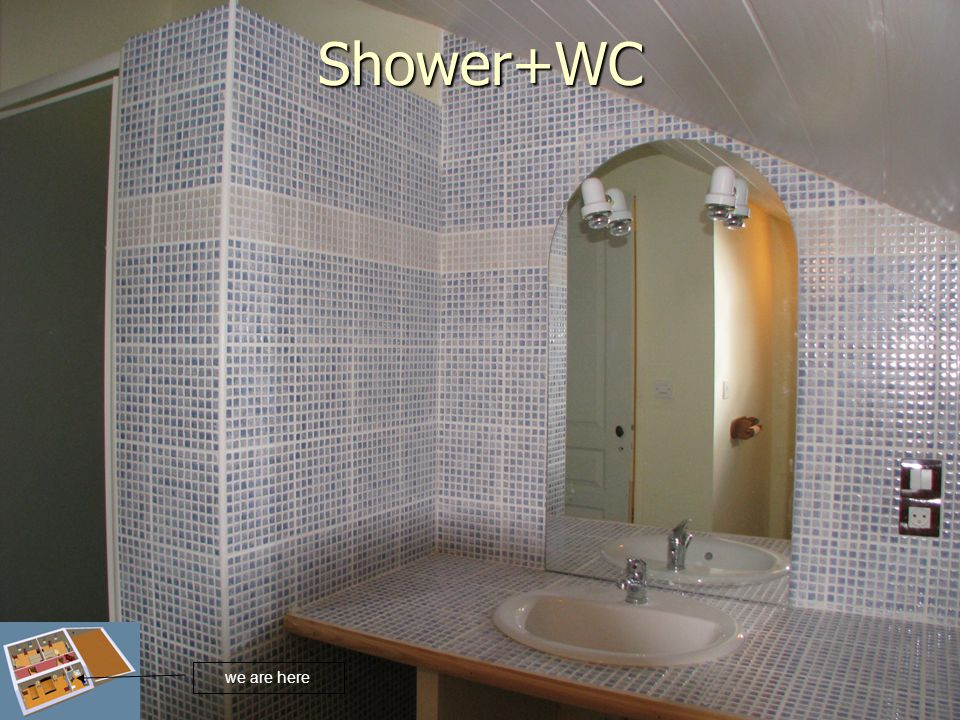 Shower+WC we are here