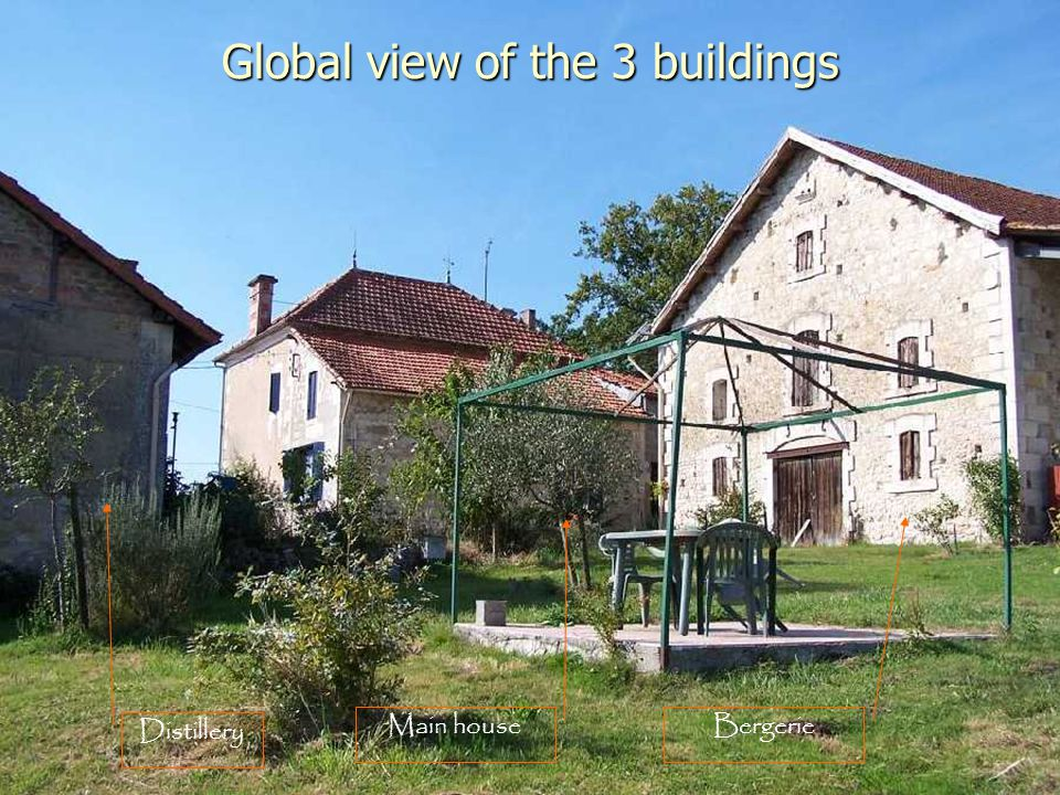 Global view of the 3 buildings