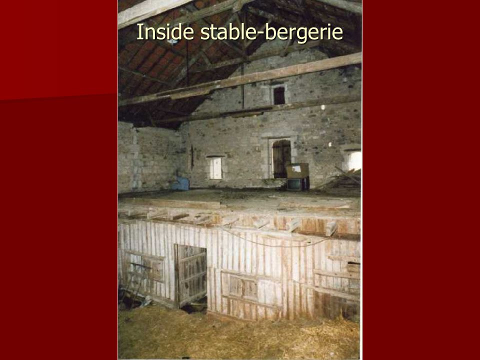 Inside stable-bergerie