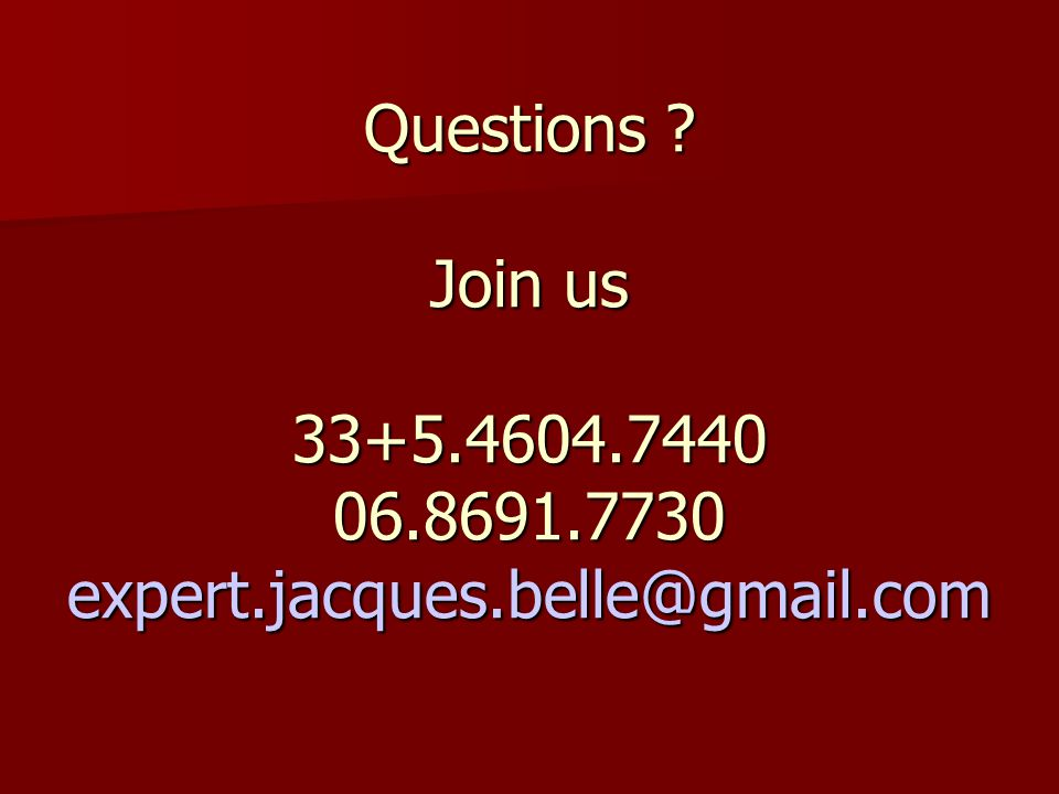 Questions. Join us expert. jacques
