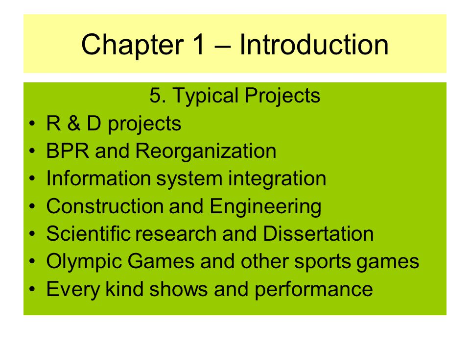 purpose introduction chapter dissertation