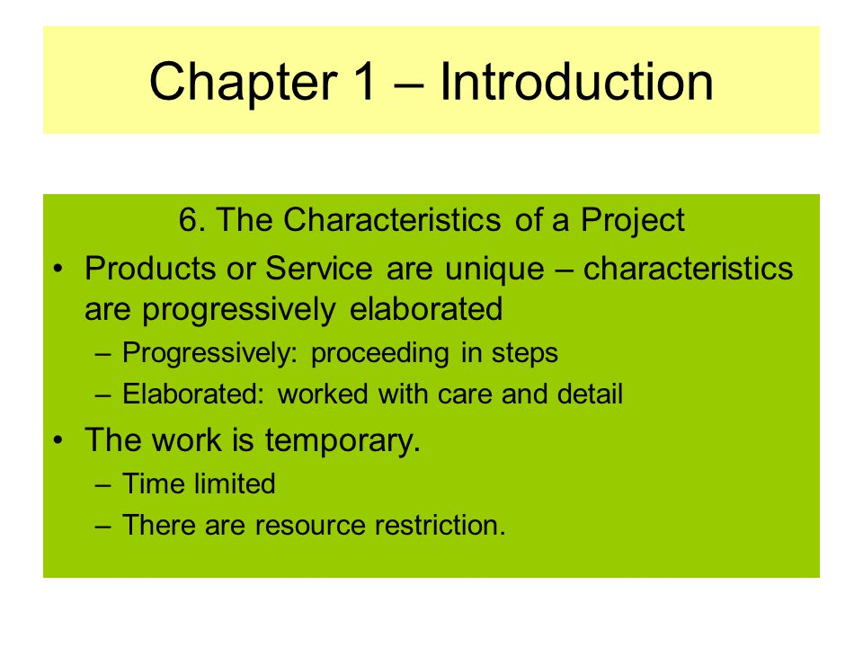 Chapter 1 – Introduction