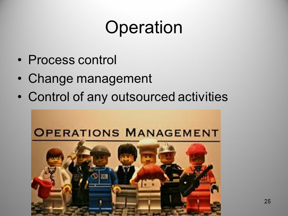 Operation Process control Change management