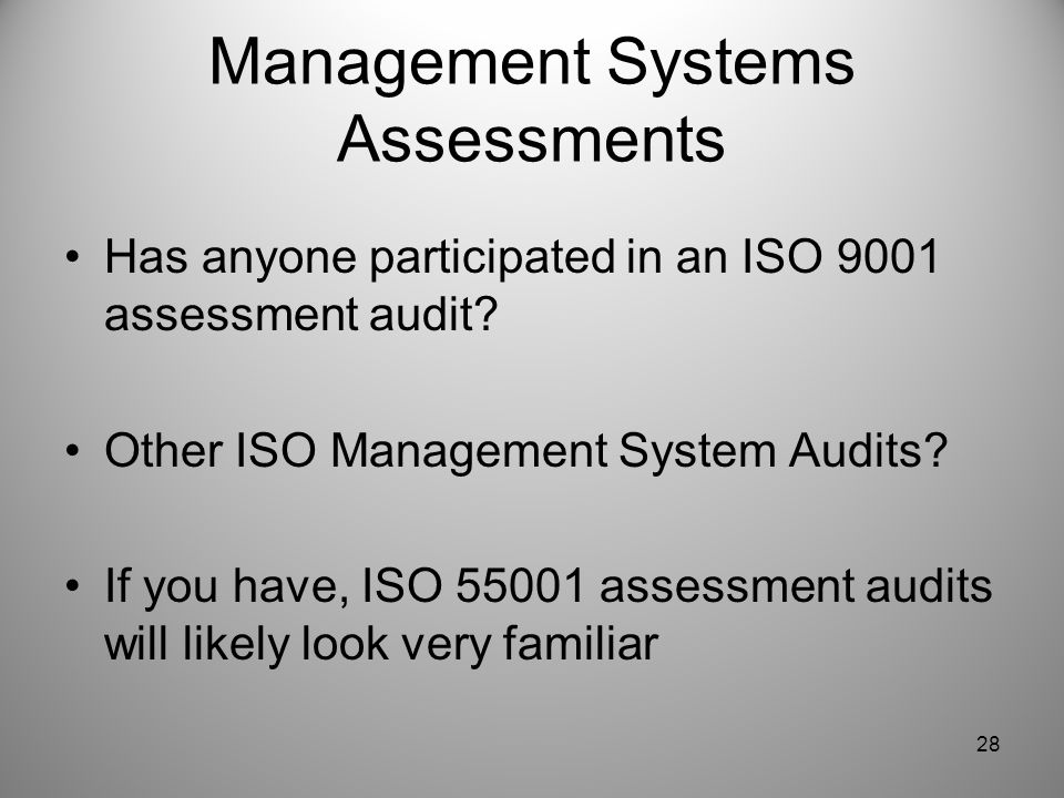 Management Systems Assessments