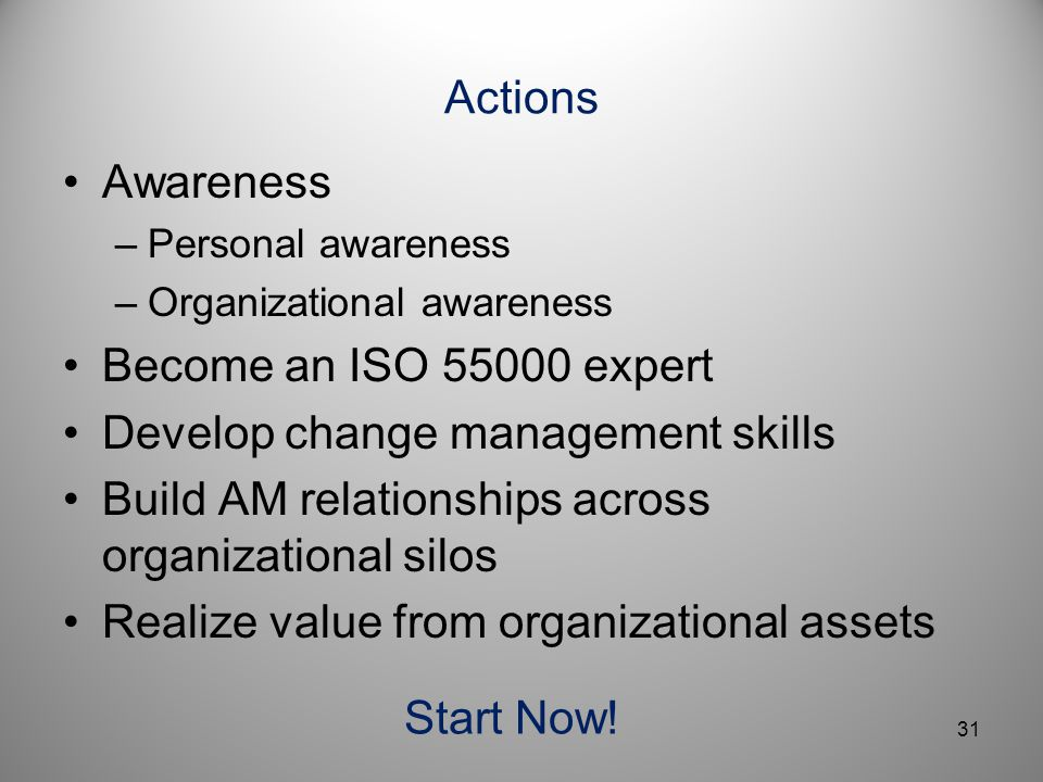 Develop change management skills