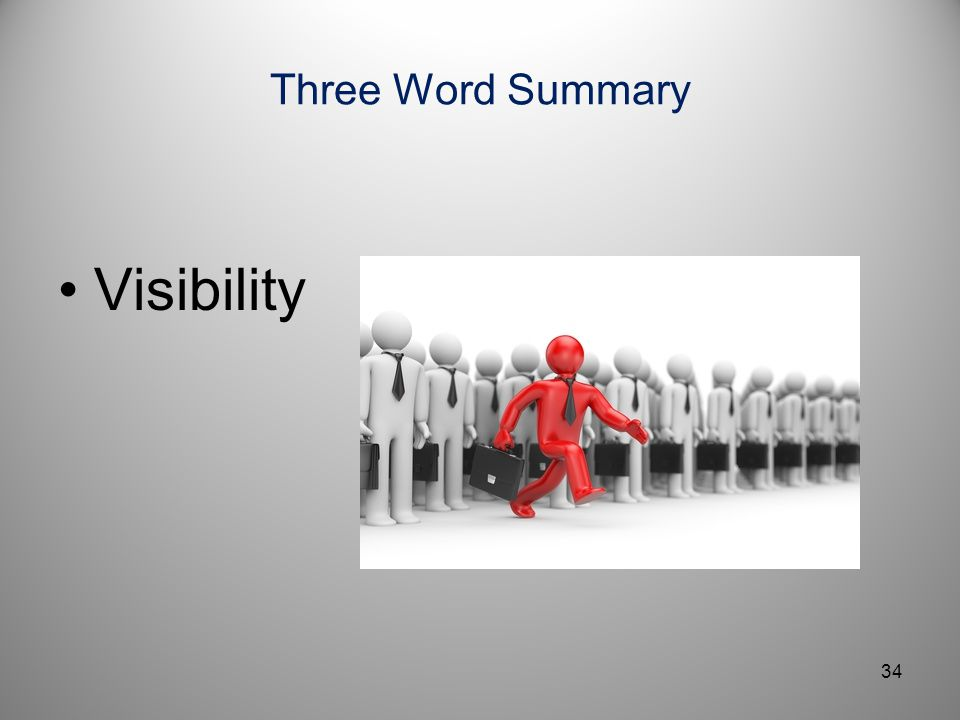 Three Word Summary Visibility
