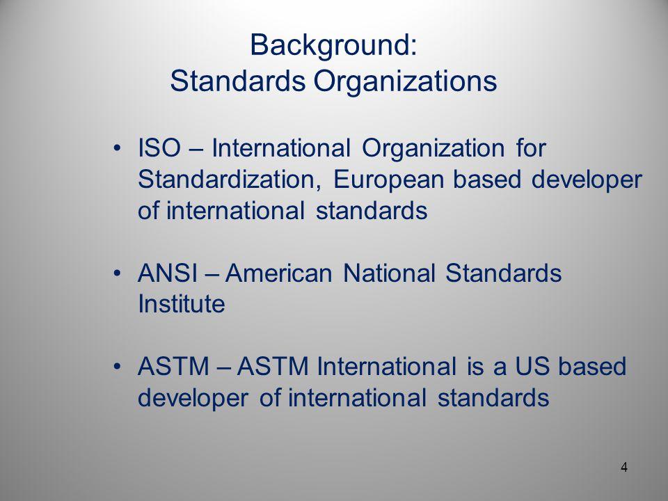 Background: Standards Organizations