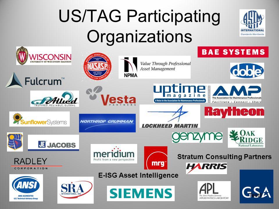 US/TAG Participating Organizations
