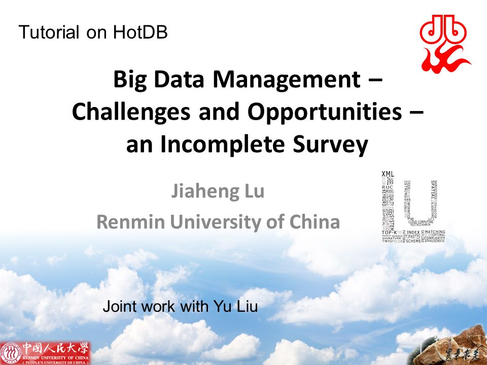 Jiaheng Lu Renmin University of China