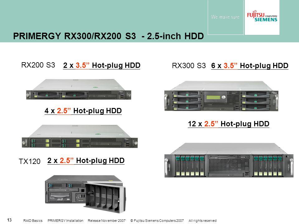 PRIMERGY RX300/RX200 S3 - 2.5-inch HDD