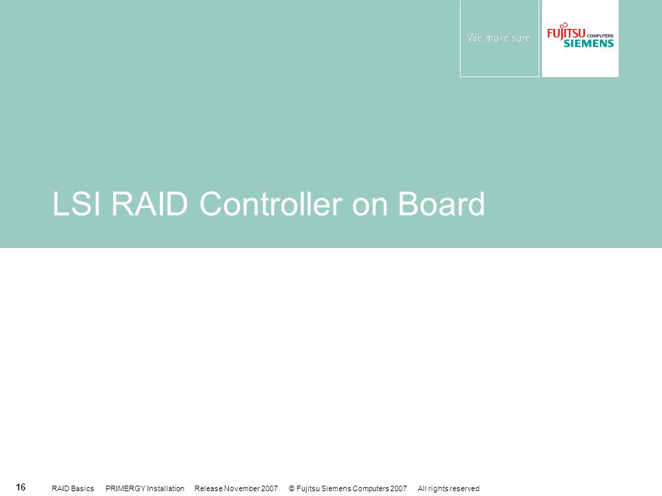 LSI RAID Controller on Board