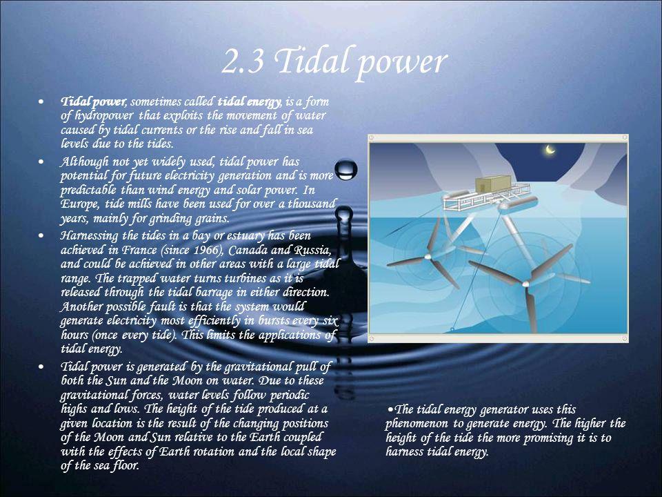 2.3 Tidal power