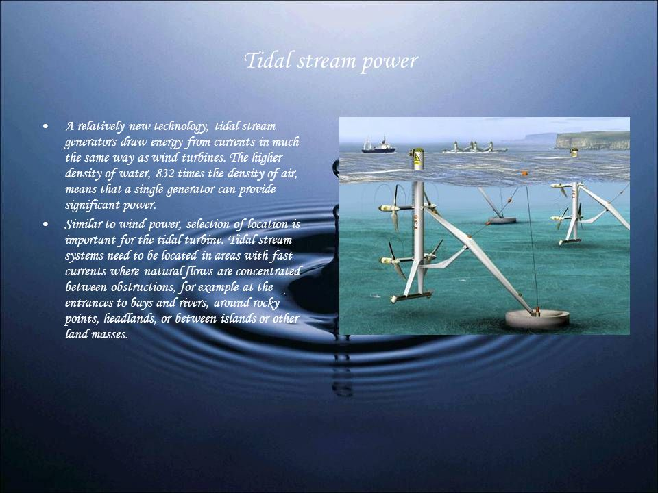 Tidal stream power