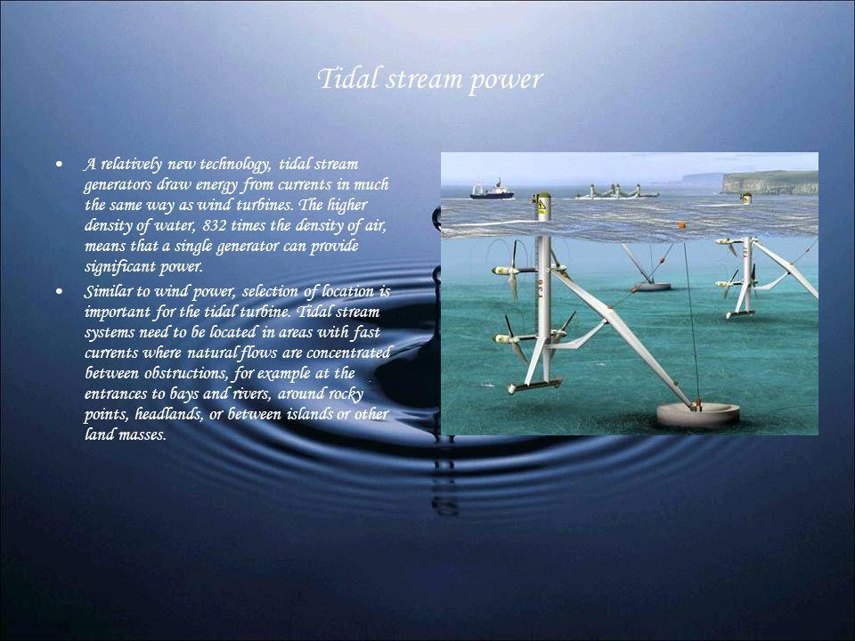 Tidal stream power