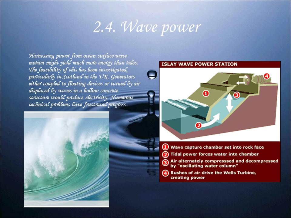 2.4. Wave power